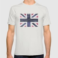 Watercolor Geo 04 Mens Fitted Tee Silver SMALL