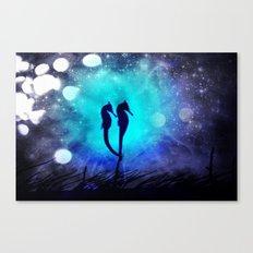 Two Seahorses Canvas Print