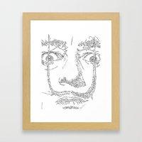 Salvador Dalì WordsPort… Framed Art Print