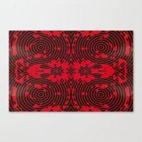 Oscillating Crimson Canvas Print