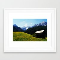Somewhere in South Tyrol Framed Art Print