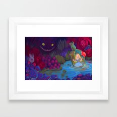 Alice in the Bottle Framed Art Print