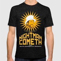 The Nightman Cometh Mens Fitted Tee Tri-Black SMALL