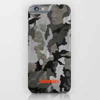 iPhone & iPod Case featuring Modern Woodgrain Camouflage / Winter Birch Woodland Print by MSTRPLN®
