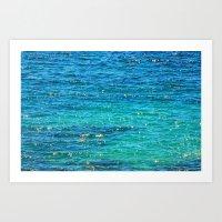 SPARKLE SEA Art Print