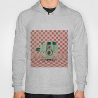 Mint Retro Camera On Red… Hoody