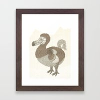 Brown Dodo Framed Art Print