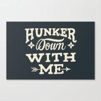 Hunker Down Canvas Print