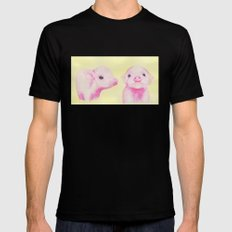 Baby Piglets SMALL Mens Fitted Tee Black