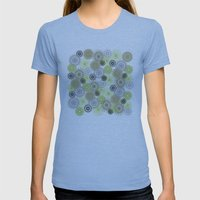 Modern Spiro Art #6 Womens Fitted Tee Athletic Blue SMALL