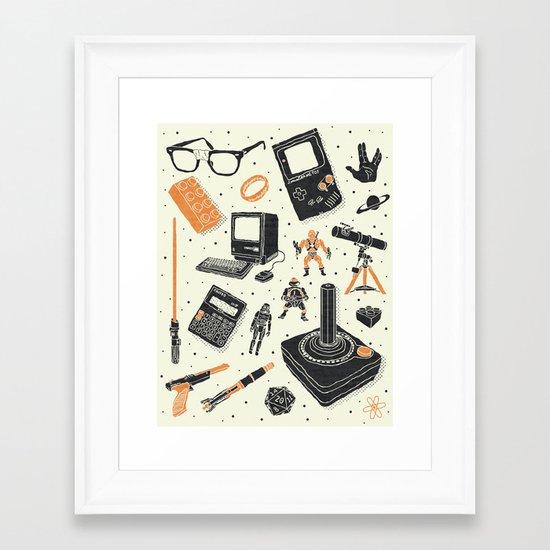 Nerd Life Framed Art Print