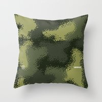 MPat Camouflage Pattern Throw Pillow