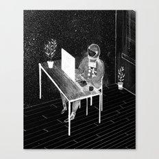 Virtual Space Travel Canvas Print