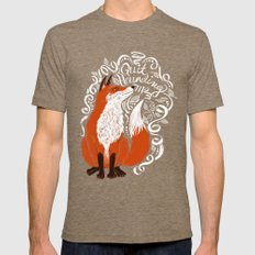 The Fox Says Mens Fitted Tee Tri-Coffee SMALL