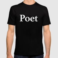Poet inverse edition SMALL Mens Fitted Tee Black
