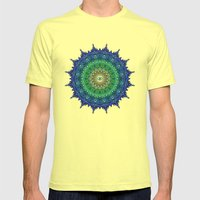 Eye of the Earth Mens Fitted Tee Lemon SMALL