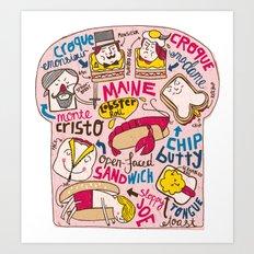 Sandwich Chart Art Print