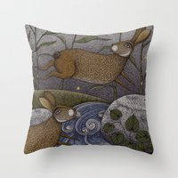 Swamp Rabbit's Reedy Riv… Throw Pillow