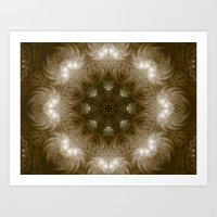 Chocolate Mosaic - Fractal Art Art Print