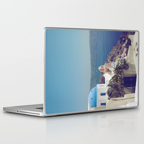 Santorini Door VI Laptop & iPad Skin