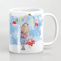 Alice Winter Wonderland, Christmas Design Mug