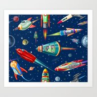 Art Print featuring Rockets In Traffic by Chicca Besso