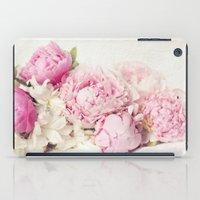Peonies on white iPad Case