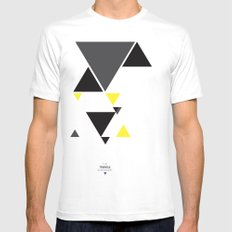 The Triangle Experiment Mens Fitted Tee SMALL White