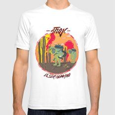 El Ser Humano Mens Fitted Tee White SMALL