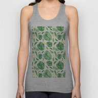 Palm Leaf Pattern Unisex Tank Top