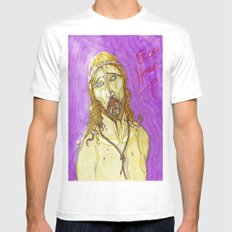 Ecce Homo ! White SMALL Mens Fitted Tee