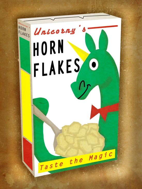 Horn Flakes Cereal Art Print