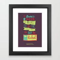 Train to the Past Framed Art Print