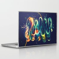 lights Laptop & iPad Skins featuring Leptocephalus by Alice X. Zhang