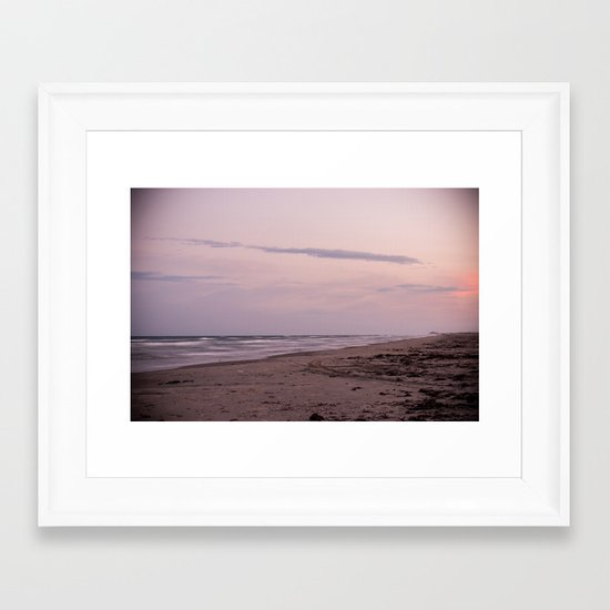 Sunset in the Gulf Framed Art Print