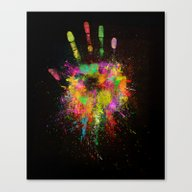 Canvas Print featuring Artist Hand (1) by Adil Siddiqui