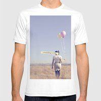 (EVERYTHING IS FINE) Mens Fitted Tee White SMALL
