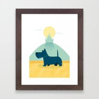 Follow The Yellow Brick … Framed Art Print