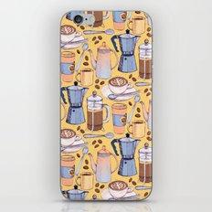 Coffee Love on Yellow iPhone & iPod Skin