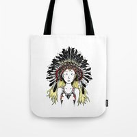 Native American Girl (co… Tote Bag