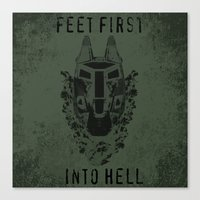 Feet First into Hell - Halo ODST Canvas Print