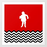 Black Lodge Dreams: Man From Another Place (Twin Peaks) Art Print