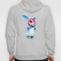 Lucha Rabbit-Blue Brother Hoody