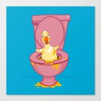 Toilet Duckling Canvas Print