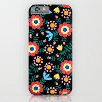 Folk Floral (Black) iPhone 6 Slim Case