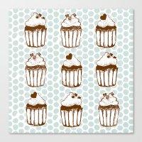 Retro Cupcakes Canvas Print