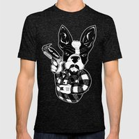 French Bulldog Gangster  Mens Fitted Tee Tri-Black SMALL
