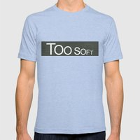 TooSoftTooLoud Mens Fitted Tee Tri-Blue SMALL
