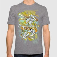 Tiles Mens Fitted Tee Tri-Grey SMALL