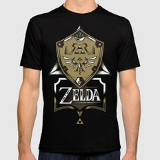 Zelda v89 SMALL Black Mens Fitted Tee
